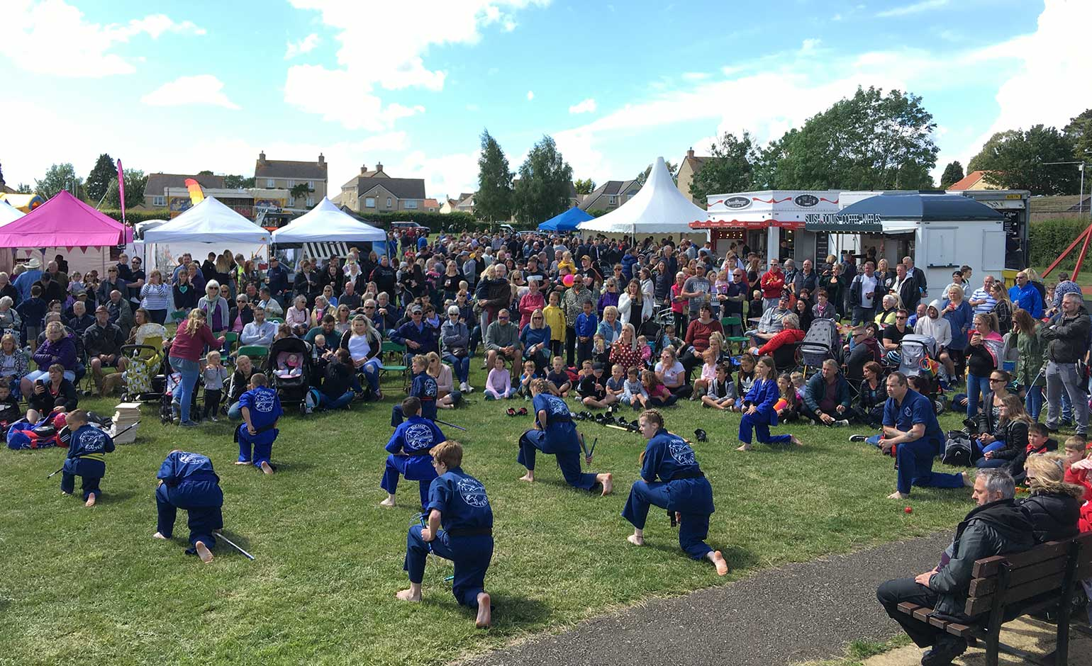 Over 2,000 people visit Peasedown's 11th annual Party in the Park festival | Bath Echo