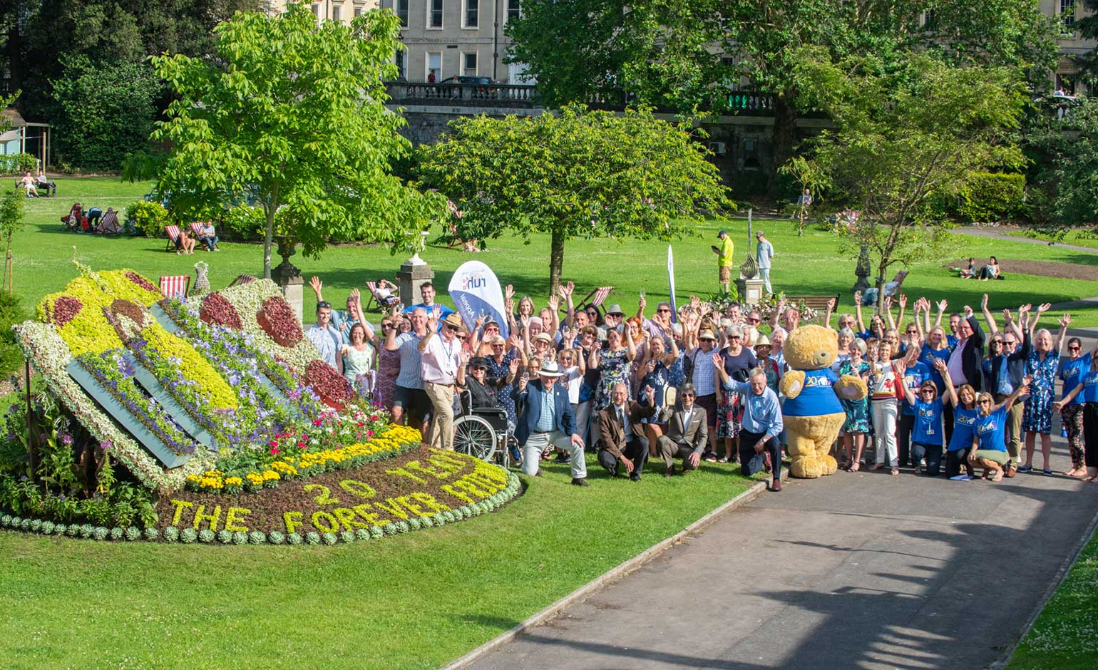 Special floral display in Bath marks Forever Friends Appeal's 20th anniversary | Bath Echo
