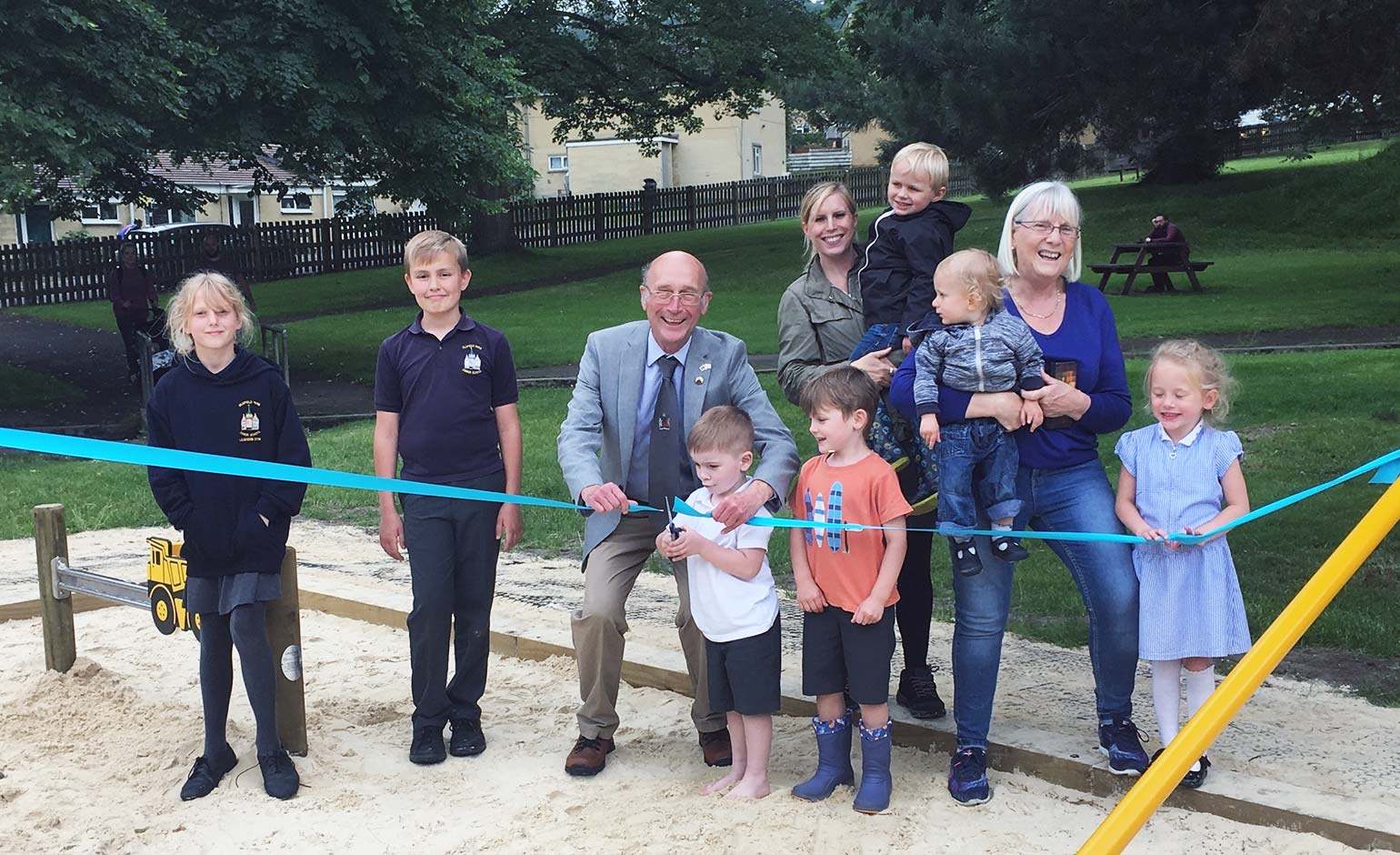 Summer of fun for children thanks to new equipment at Sandpits play area