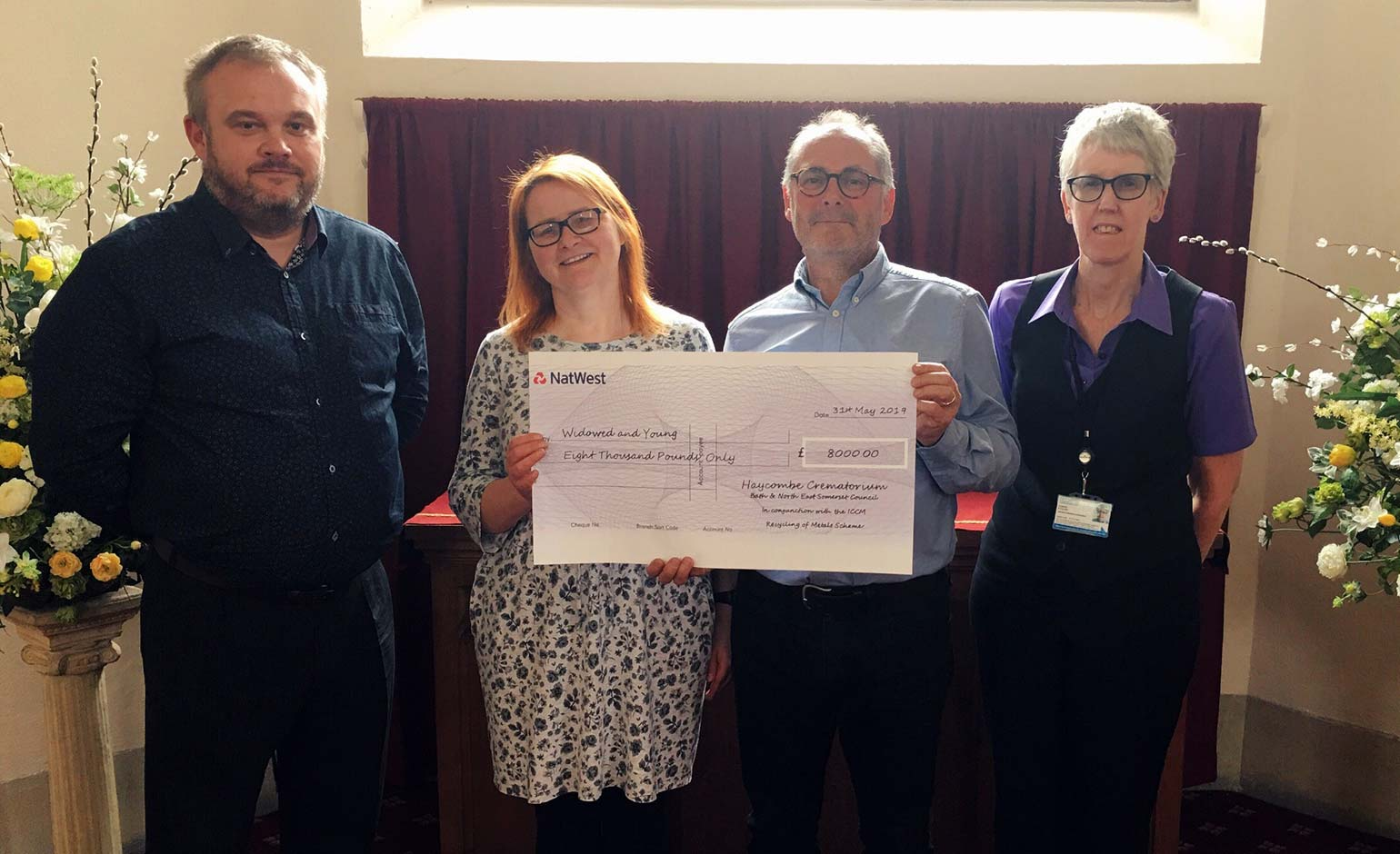 Bereavement charity receives £8k thanks to Haycombe Crematorium recycling | Bath Echo