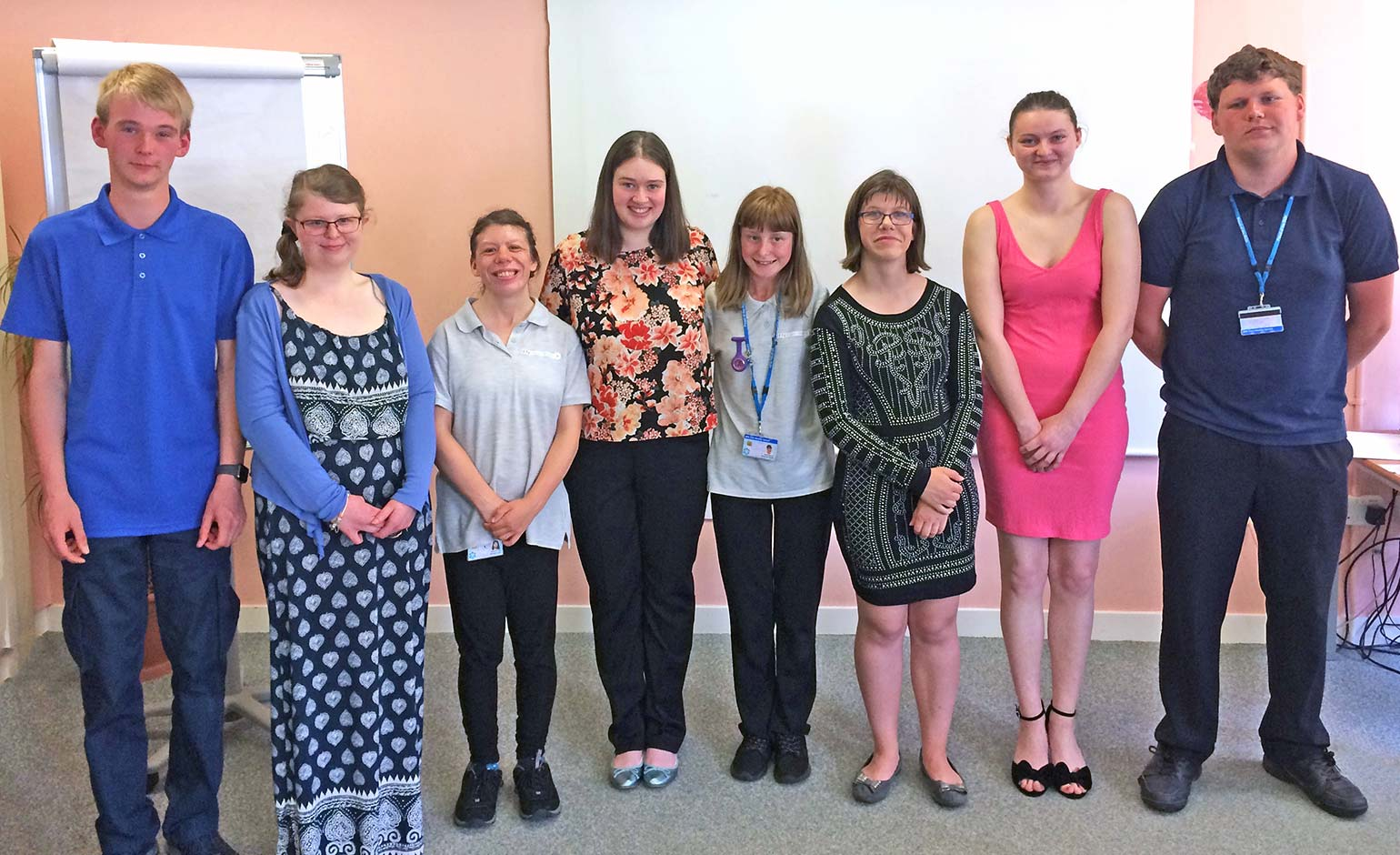 Students from RUH's specialist Project SEARCH partnership celebrate success