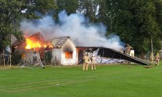 Former cricket pavilion destroyed as fire crews tackle second blaze in ten days