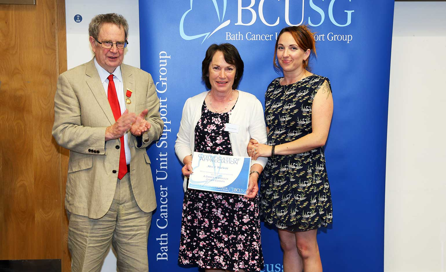 """Somerset widow's """"fantastic fundraising efforts"""" for cancer unit recognised"""