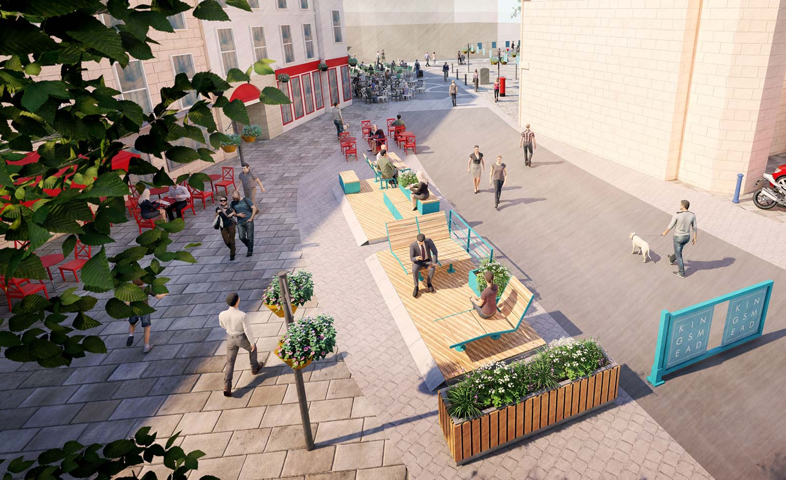 Plans for pedestrianisation of Kingsmead Square take another step forward
