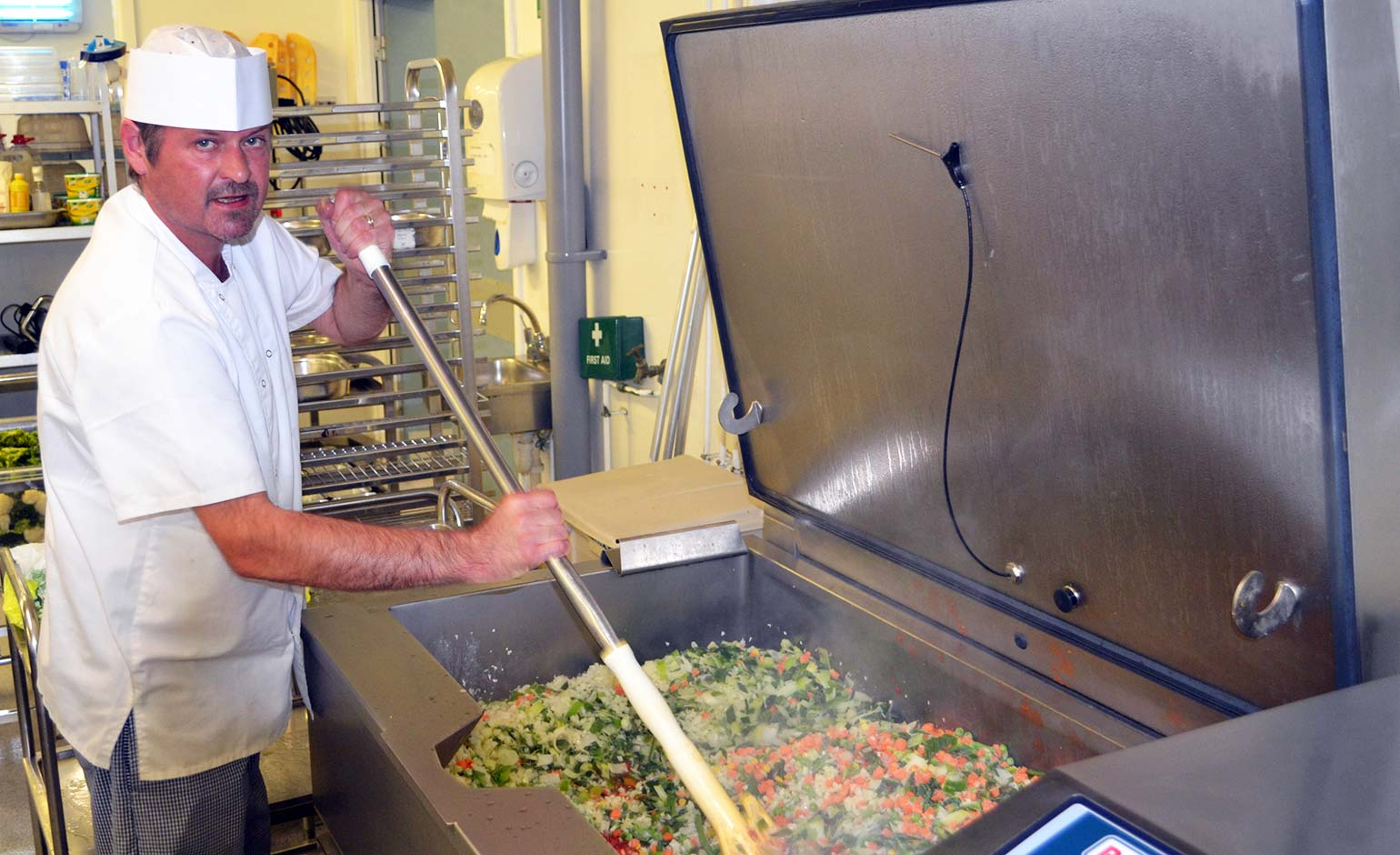 £100k investment in hospital kitchens helps reduce waste and energy use