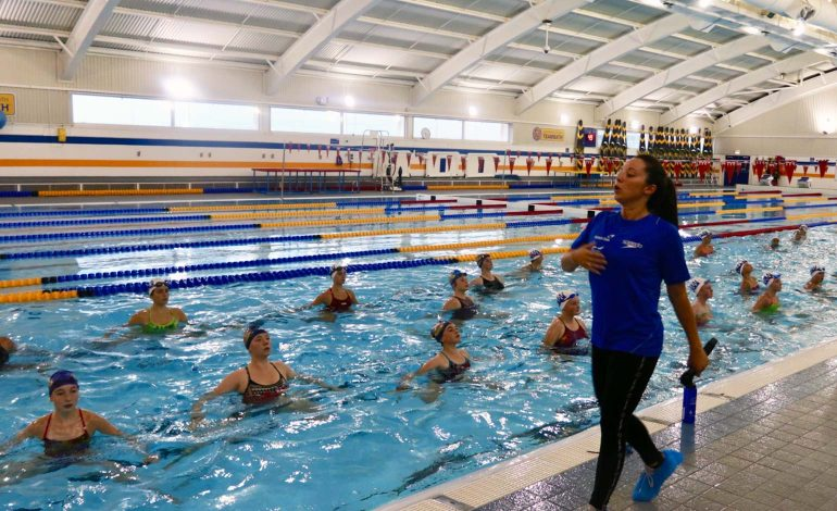 Team Bath's Synchro Club Summer Camp a hit with European swimmers