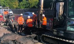 Work continues on the London Road in Bath to repair damaged water main