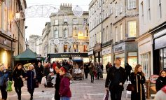 Work gets underway to install this year's Christmas lights across Bath