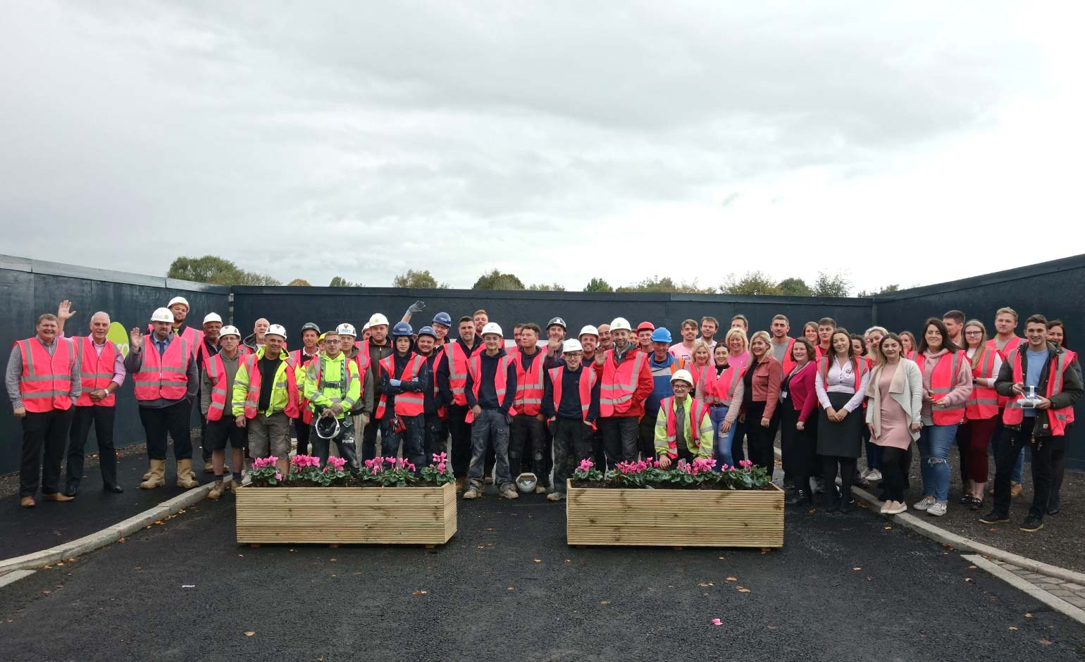 Curo's housebuilding team wear it pink for Breast Cancer Now fundraiser