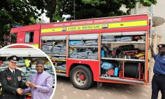 Avon Fire & Rescue Service delivers three trucks and equipment to Gambia