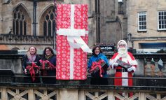 Expert wrapping on offer thanks to the charitable Bath Gift Wrapping Station