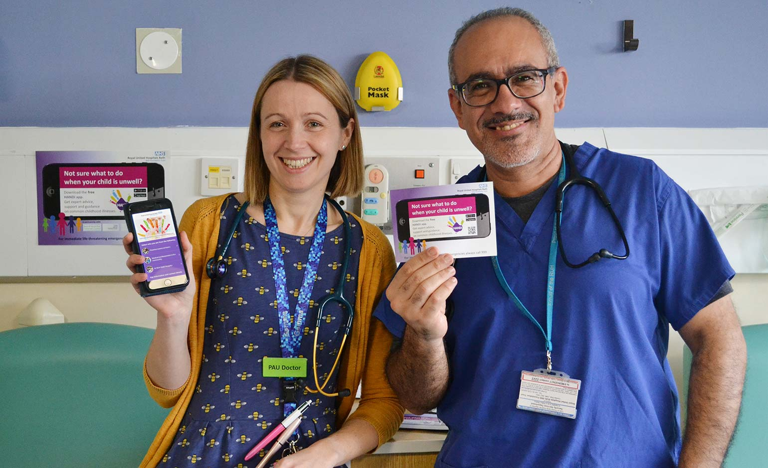 RUH paediatricians urge Bath parents to download free medical advice app