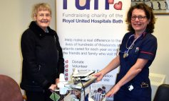 RUH staff thank generous patient for funding new £7,500 bladder scanner