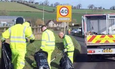 Work underway as part of verge litter clean-up across North East Somerset