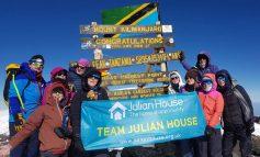 Julian House trekkers reach summit of Africa's highest mountain Kilimanjaro