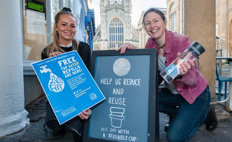 Local businesses encouraged to sign up for Refill free tap water scheme