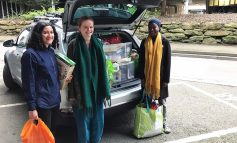 Local students support Bath Foodbank with donations as they head home