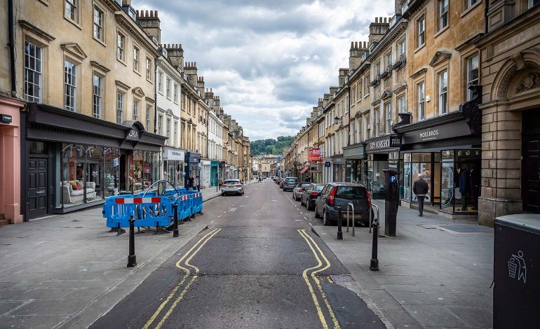 Road resurfacing work for Milsom Street following bus gate introduction
