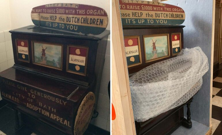 Historic barrel organ returns from Bath's twin city of Alkmaar after 75 years