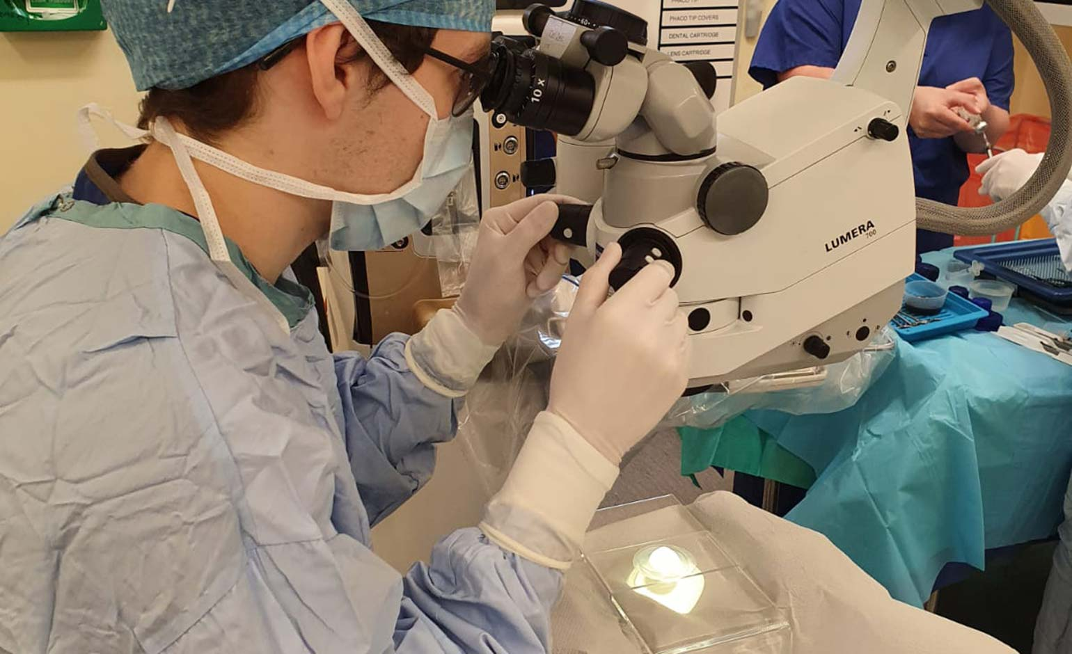 Eye surgery gets back underway at the RUH in Bath after trial operating day