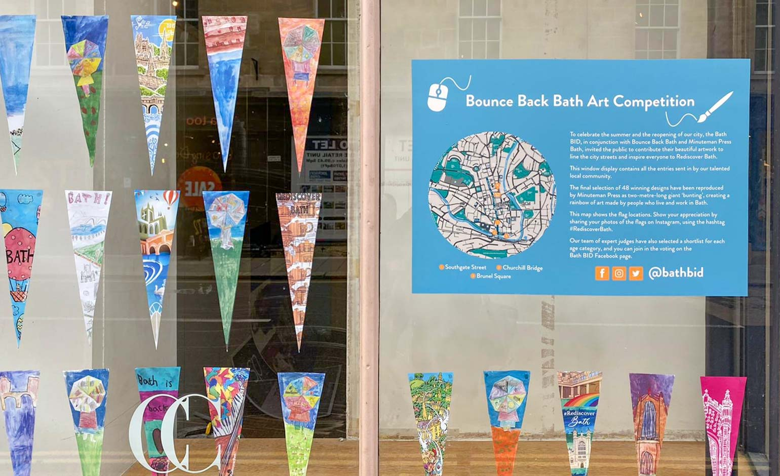 """Cheerful"" artwork fills the streets of Bath following citywide competition"