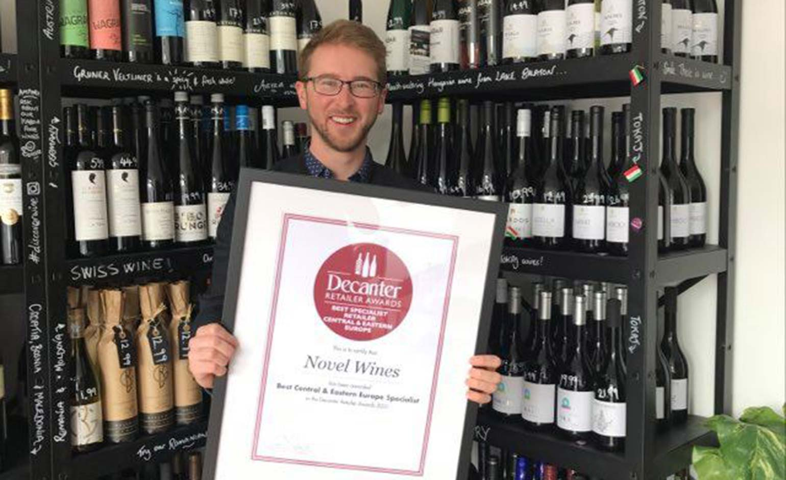 Bath's Novel Wines wins coveted Decanter Award for second year running