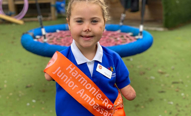 Harmonie-Rose made Meningitis Now charity's first Junior Ambassador