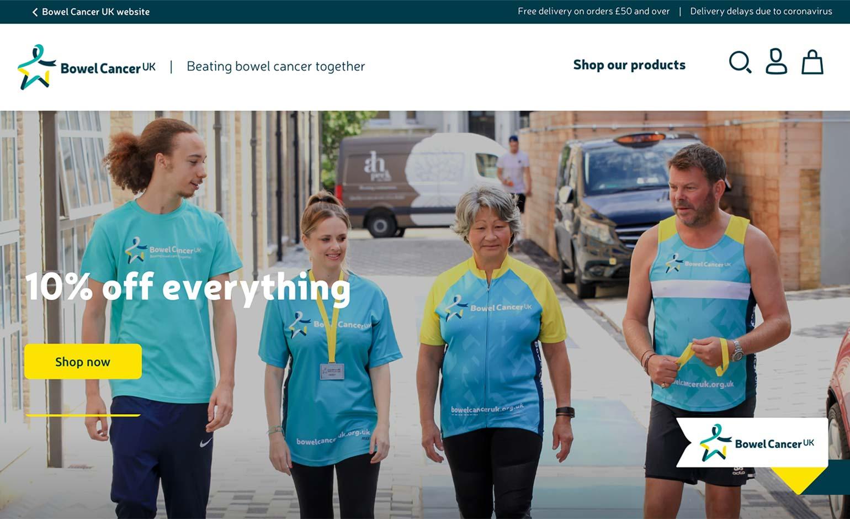 Bowel Cancer UK launches new online shop thanks to Bath business blubolt
