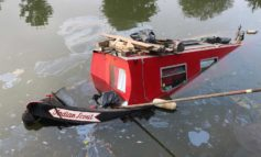 Boats along river in Bath sink after mechanical fault at sluice gate in Twerton