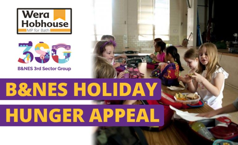 Bath MP launches B&NES Holiday Hunger Appeal alongside charity 3SG