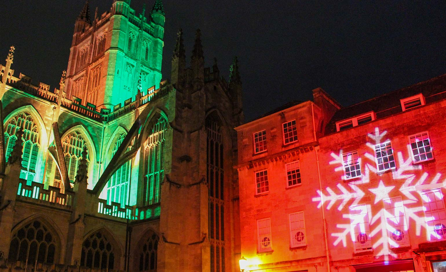 Bath BID illuminates iconic streets and buildings across city for Christmas