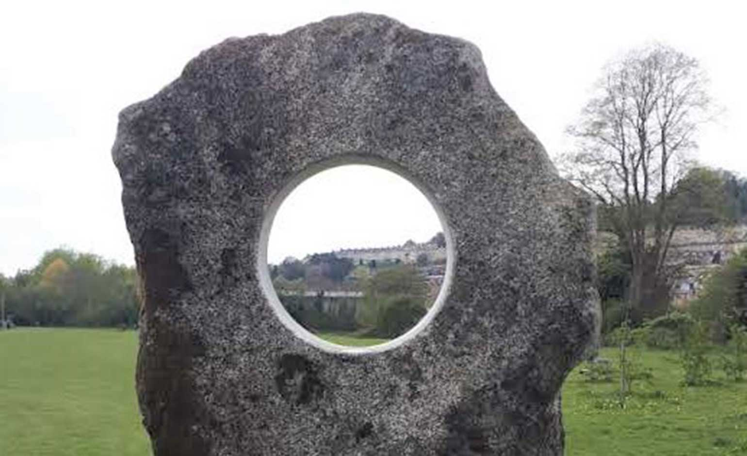 Monolith installed in Kensington Meadows as part of improvement scheme