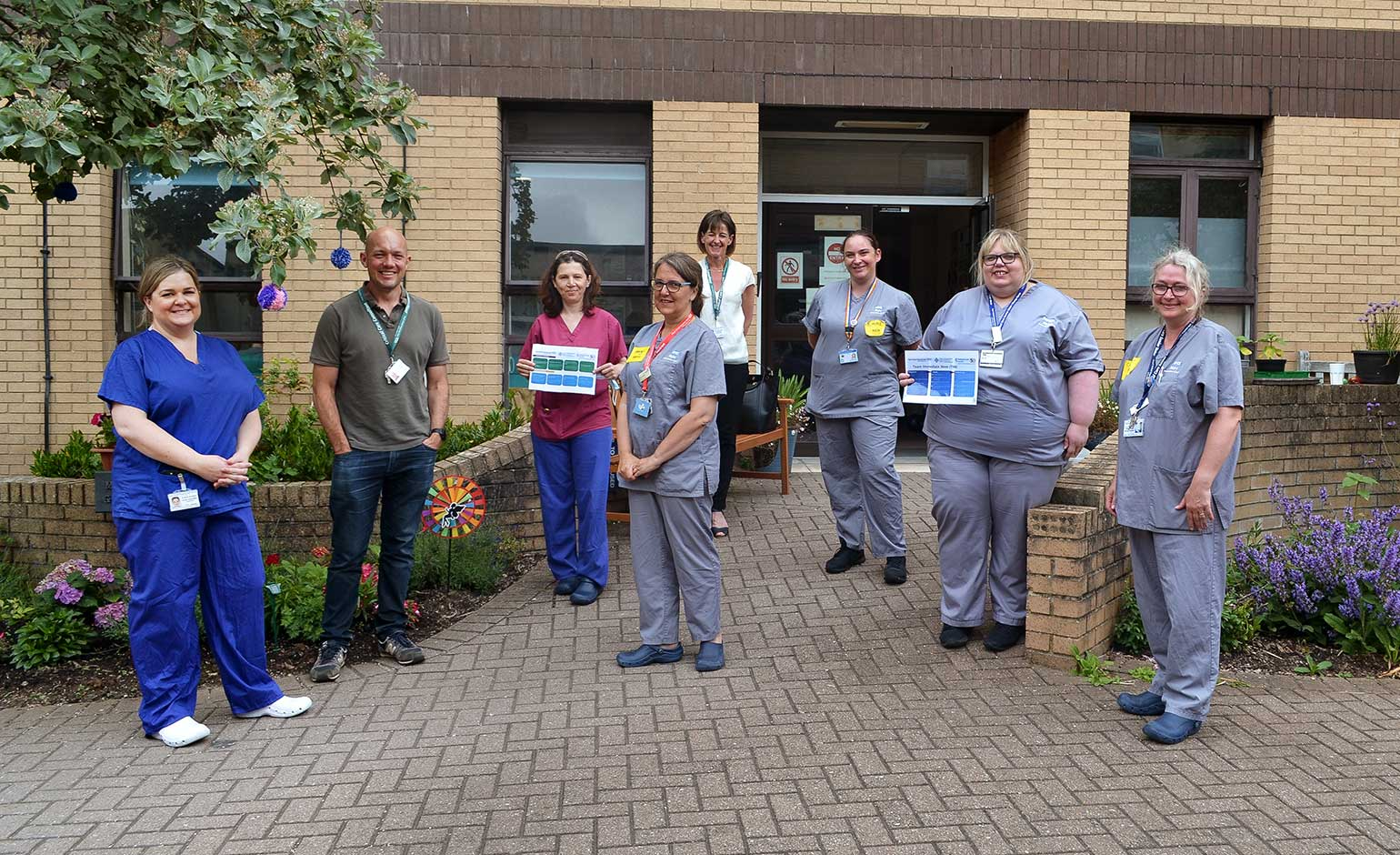 Staff at Bath hospital recognised with prestigious national wellbeing award