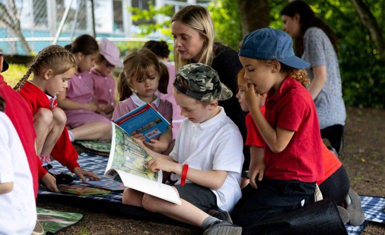 More than 300 schoolchildren take part in SouthGate Bath 'booknic' event